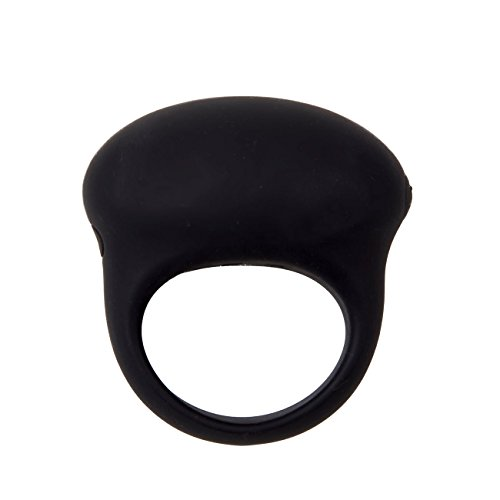 VSP Silicone Vibrating Cock Ring Waterproof Penis Ring Rechargable Sex Ring with 7-speed Vibration in Black by VSP