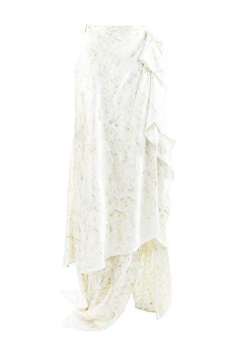 Alejandra Alonso Rojas Skirt Draped Silk SZ 2 Green