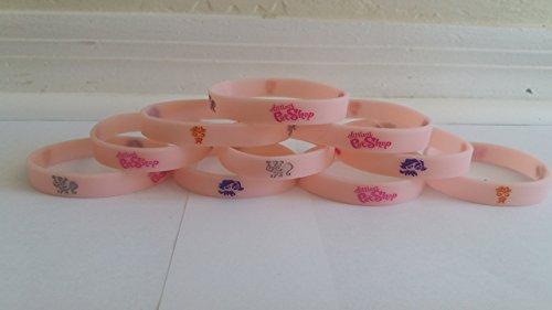 Littlest Pet Shop - GLOW IN THE DARK bracelets, birthday party favors (10 pack) (Littlest Pet Shop Birthday Supplies)