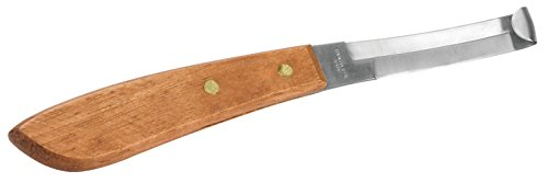- Weaver Leather Double Edge Hoof Knife with Wooden Handle, Brown