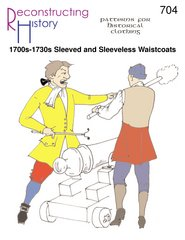 [1700's - 1730's Sleeved and Sleeveless Colonial Era Waistcoats Pattern] (Colonial Costumes 1700)