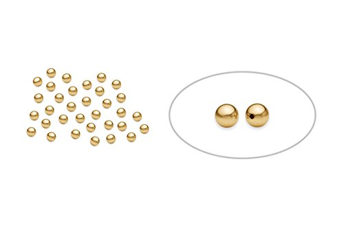 - 200 Pieces Small 2 mm 14K Gold Filled Round Seamless Smooth Beads