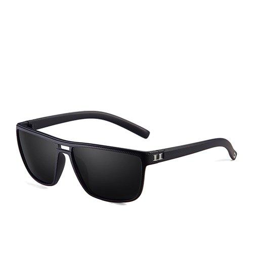 de de Sol Hombres de Plástico C4 Dark Gafas Cuadrado Gafas Moda Marrón Sol de Gafas Marrón Blue Guía Sunglasses Hombre polarizadas TL Smoke para C3 Y6q8xEZ