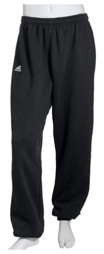 adidas Men's Team Fleece Pant,Black/White / White,Medium