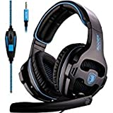 SADES SA810 Gaming headsets New Version Updated Playstation 4 Gaming Headset Headphones with Noise Isolation Microphone and PC Adapter for PS4/XboxONE Laptop Mac Phone