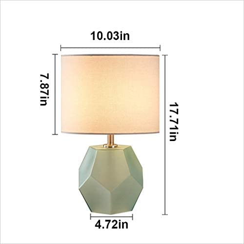 Table Lamp Modern Table Lamp Nightstand Desk Lamp Bedside Lamp Linen Shade for Living Room Bedroom Office College Dorm XYJGWSTD (Color : Dark Grey)