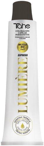 Tahe Lumière ExpressTinte de Pelo Profesional Coloración de Cabello Permanente Tinte Castaño Claro Ceniza Natural Tono 5.11 100 ml