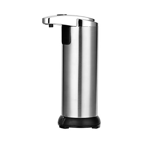 Decdeal 250ML Stainless Steel IR Sensor Touchless Waterproof Automatic Liquid Soap Dispenser for Kitchen Bathroom Home