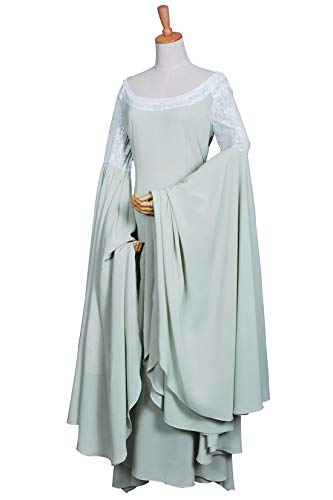 The Lord of The Rings Cosplay Elf Princess Arwen Costum Green Dress Girls XL ()