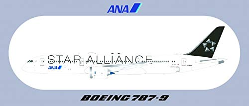 - ANA Star Alliance Boeing 787-9 Sticker 1Packs 1PC Rare, Exclusive, Collectible & Waterproof!! Laptop Travel Suitcase Decal Sticker for Luggage (About 20 x 8.8CM (7.87