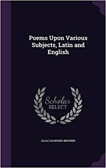 Book Poems Upon Various Subjects, Latin and English