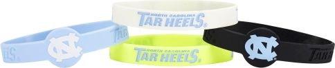 aminco NCAA North Carolina Tar Heels Silicone Bracelets, 4-Pack
