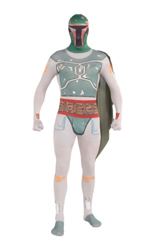 Mandalorian Costume - Rubie's Costume Star Wars Boba Fett 2nd Skin Full Body Suit, Multicolor, Large Costume
