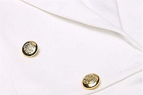 Colore Cappotto Tailleur Button Da Autunno Casual Manica Moda Eleganti Ragazza Bavero Donna Giacche Fit Chic Pieghe Giacca Puro Con Slim Lunga Primaverile Ufficio Blazer Bianca Business qAB5EHxwg5