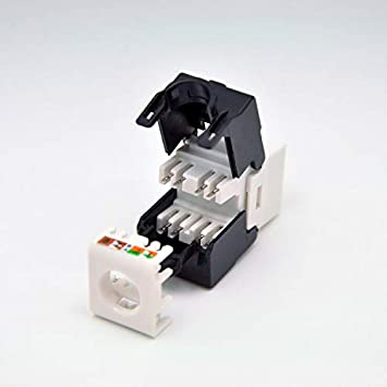 ShineBear CAT6 Keystone Jacks RJ45 to LSA fits faceplate//wallplate /& Blank Patch Panel - toolless Type Cable Length: 24pcs per Pack