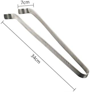 Leikance Stainless Steel Barbecue Clip,Long Handle Food Tongs Heat Resistant Cooking Tongs for Grill Steak