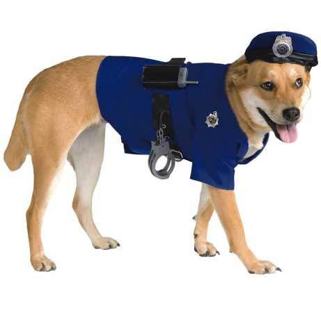 Police Dog Costume (Rubie's Police Dog Pet Costume,)