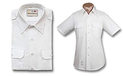 Male Army ASU White Short Sleeve Shirt (17.5)