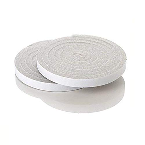 - 2 X Betan Foam Tape, Rolls Poly Foam Self Adhesive Weatherseal Tape Maximum Compression, Charcoal Weather Stripping Tape 0.6X0.4 Inch by 6.5 feet, Grey