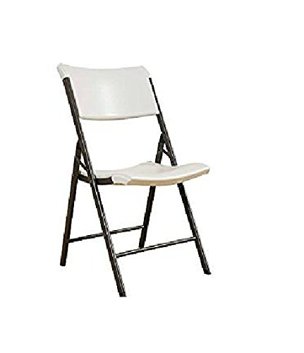 Lifetime Folding Chair, Contemporary - Pack of 4, Almond