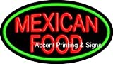 Mexican Food Flashing Handcrafted Real GlassTube Neon Sign