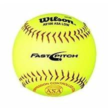 Wilson A9106 ASA Series Softball (12-Pack), 12-Inch, Optic Yellow