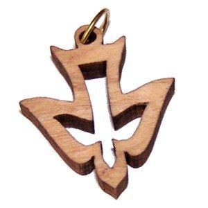 Holy Spirit Olive wood Dove Laser (8cm or 3.15