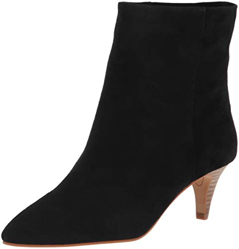 Dolce Vita Women's Deedee Ankle Boot, Onyx Suede, 7 M US (Vita Boots Dolce 7)
