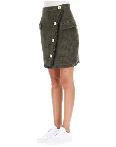 Vert 154514X035C3690 Jupe Acrylique Balmain Femme 7vpf88