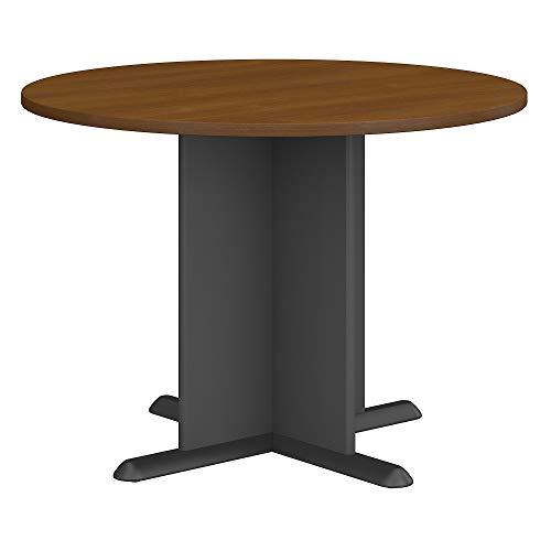 Bush Business Furniture Series C 42 INCH Round Conference Table - Warm Oak/Graphite Gray 41W X 41D X 30H ERGONOMICHOME BUSH BUSINESS FURNITURE Scroll Down for Product Description