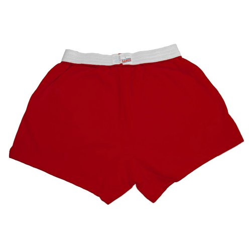 Original Soffe Cheer Shorts, Red, Adult Small (Best Way To Fold Shorts)