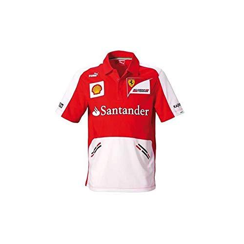 FERRARI Camiseta Hombre Team Escuder/ía Rojo//Blanco Talla S