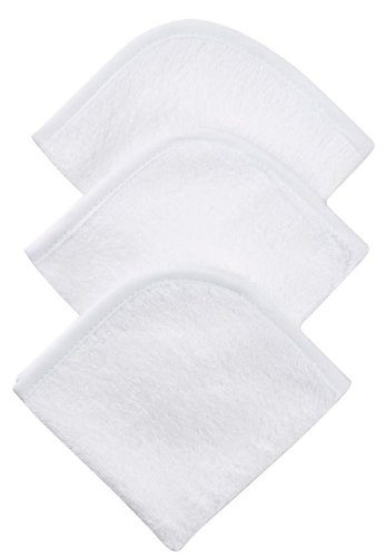 American Baby Company 3-Pack 100% coton Terry Débarbouillette Set, Blanc
