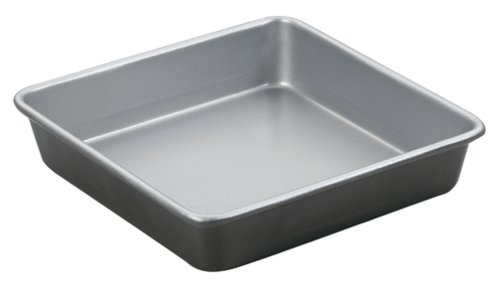 Amazon Com Cuisinart Amb 9sck 9 Inch Chefs Cl Ic Nonstick Bakeware Square Cake Pan Silver Kitchen Dining