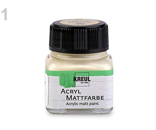 (1pc 1 (61) Ecru Acrylic Matt Paint for Decorations 20ml, Paper and Painting Supplies, Craft Basics, Hobbies )