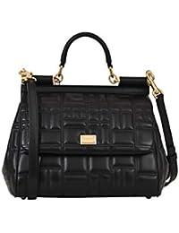 Women's BB6200AV32180999 Black Leather Handbag