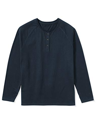 Amazon Essentials Mens Big & Tall Long-Sleeve Henley Shirt fit by DXL