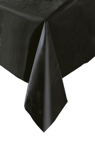 Black Rectanglular Plastic Table Cover 54