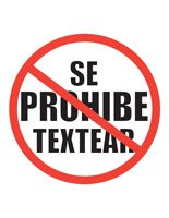 No Texting Poster in Spanish -