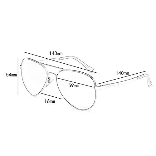 Aviador sol Espejo Gafas C de Vogue polarizadas de la UV de Hombres conducción Running Personalidad EqCCg5w