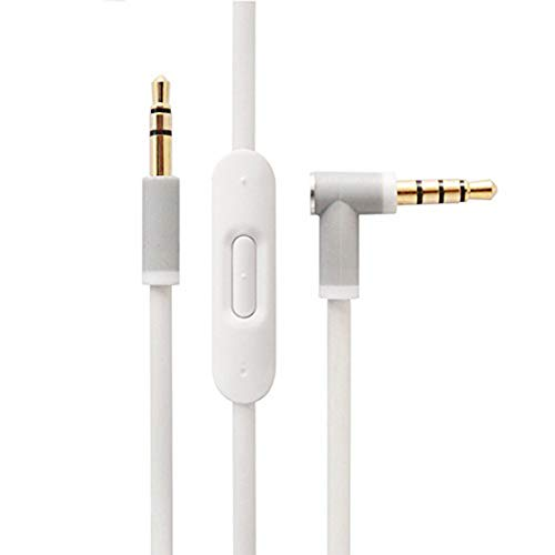 ICEVEIN OEM Replacement Audio Cable Cord Wire for Beats by Dr Dre Headphones Solo/Studio/Pro/Detox/Wireless/Mixr/Executive/Pill (White)