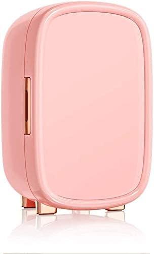 LFSPミニ冷蔵庫 Storgeランチ、ドリンク、ビールのミニ冷蔵庫コンパクトなポータブルミニ化粧品冷蔵庫、スキンケアマスク美容冷蔵庫、携帯用小型12L容量、 (Color : Pink)