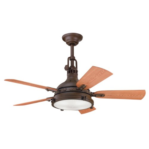 Kichler Lighting 310101TZP 44-Inch Hatteras Bay Patio Indoor/Outdoor Ceiling Fan, Tannery Bronze Bronze Traditional Indoor Fan