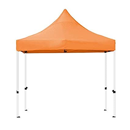 size 40 31f24 bba10 Goutime 10 x 10 Feet Pop Up Canopy, Waterproof Ez Up Canopy Tent with A  Wheeled Bag, Basic Commercial Level, Orange