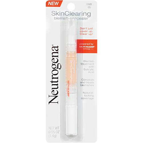 Neutrogena Skinclearing Blemish Concealer, Fair 05, .05 Oz. (Best Makeup To Hide Acne)