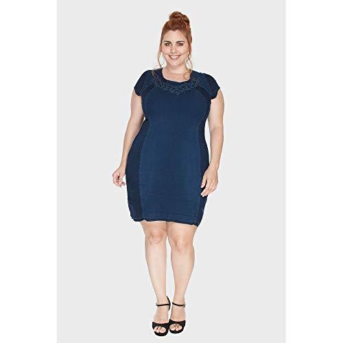 Vestido Squash Plus Size Azul-52