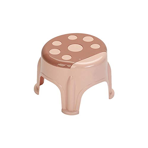 Stool Plastic Bench Home Children Thickening Stepping Foot Anti-Slip Rubber Foot Pad Baby Shower Stool (Color : Pink, Size : ()