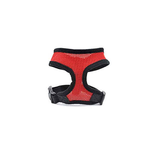 Dog Harness Vest Training Puppy Soft Mesh Pet Harness for Dogs Cats Small Medium Nylon Chest Strap Bulldog,Red,XL ()