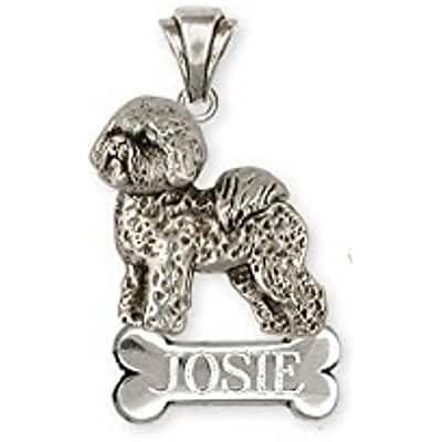 Sterling Silver Handmade Bichon Frise Pendant