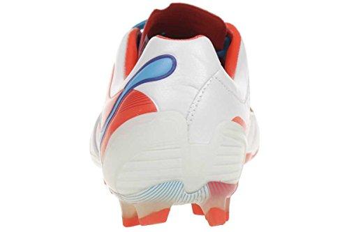 Puma PowerCat 1 SL FG 102780 - Zapatillas de fútbol para hombre Weiß (metallic white-orange.com 02)